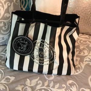 Falchi Sport black and white tote